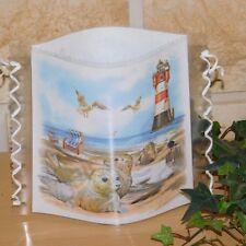 Tischlicht/Windlicht  - Seehunde am Strand - Maritim - Strand - Leuchtturm