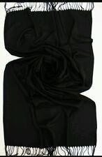 BLACK Luxury Original Cashmere & Seta Pashmina Avvolgere Sciarpa Scialle