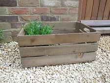 Wooden Garden Trough Planter Veg Bed Flower Plant Pots Rustic Outdoor Plant Box