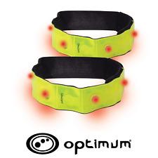 Reflective Flashing LED Running Cycling Armbands Strap X2