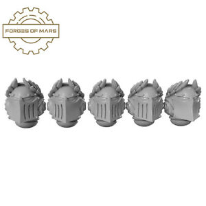 Custom 40K Space Marines - Casques - Ascended Crusaders (x5)