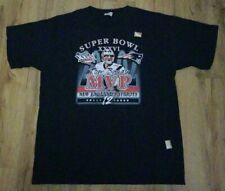 New England Patriots Tom Brady 2002 Super Bowl XXXVl MVP T-Shirt men's size-XL