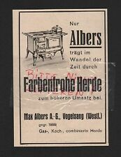 VOGELSANG, Werbung 1930, Max Albers AG farbenfrohe Herde