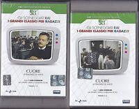 2 Dvd Sceneggiati Rai CUORE di De Amicis L.Comencini con J.Dorelli completa 1984