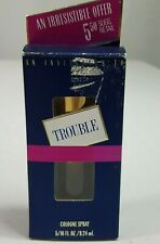 VINTAGE TROUBLE Cologne Spray 5/16 ounce Full in Original Package Q101