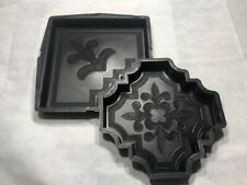 Set Of Plastic Molds/Forms To Make Concrete Paver Stones For Walkway And Patio