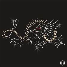 Dragon De Diamantes De Imitación Diamante transferencia hierro en la revisión de Cristal Adorno Aplique Parche