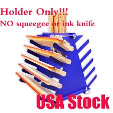 USA Screen Printing Squeegee Spatulas Holder Desktop Shelving Tool Rack 5 Layers