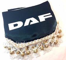 DAF Window Shield Pelmet Tassels Windscreen Waveform Logo Emblem Black