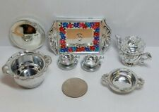 Mattel Barbie Doll Accessory Lot Vintage 1990's Tea for Two & Other Silver