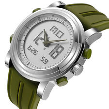SINOBI Fashion Men's Military Sport Analog Digital Quartz LED Rubber Wrist Watch
