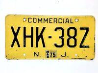 New Jersey 1975 Vintage License Plate Old Commercial NJ Truck Man Cave Garage