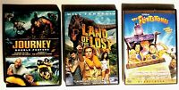 4 MOVIES Land of the Lost +JOURNEY TO CENTER OF THE EARTH+Journey 2+ FLINTSTONES