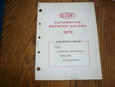 1972 Ford Du Pont Paints Color Chip Paint Sample Ford Mercury Lincoln T-Bird