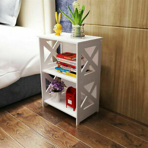 White Bedside Table Drawer Cabinet Small Side End Table Nightstand Storage Shelf