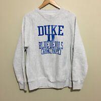 Duke Blue Devils NCAA Crewneck Sweatshirt Jumper Grey Mens Medium 38/40