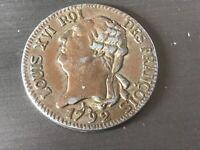 Rare Louis XVI 1792 6 Livres françois,Coin VF Condition