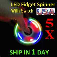 UPGRADE VERSION SWITCH CONTROL 3 MODE LED HAND SPINNER EDC TOY FIDGET LOT OF 5X