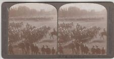VINTAGE STEREOSCOPIC CARD - military, horses, Duke of Connaught?  Underwood