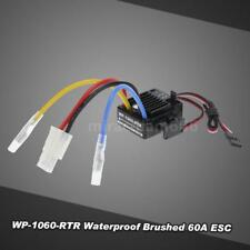 WP-1060-RTR Waterproof Brushed 2S-3S 60A ESC for 1/10 Tamiya HSP RC Car C3U7