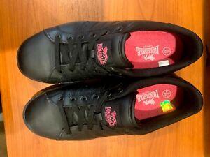 Lonsdale Womens Leyton Ladies Lace Up Sport Shoes - Black/Cerise Size 10