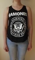 RAMONES Black Tshirt Vest Tank Top PUNK ROCK t-shirt NEW LADIES GIRLS Vest