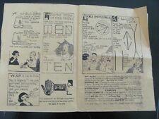 c1920s Warwick Press Flyer/Catalog Magic Tricks Bingo & Novelties Conimicut Ri