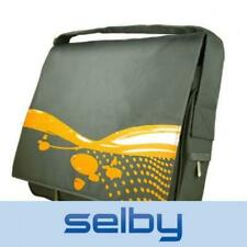"15"" Laptop Notebook Messenger Bag Padded Yellow & Grey Hipster Retro Style"