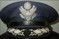 1960's US Air Force USAF GENERAL OFFICER DIRECT BULLION EAGLE Visor Cap Hat USAF