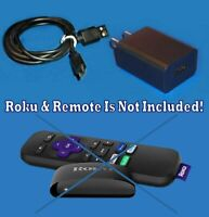 Power Cord 3FT Cable Charger FOR Roku Express + Premiere 4K 3920 Streaming Stick