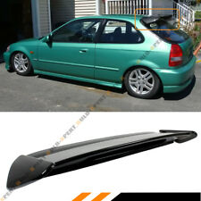 FOR 96-00 HONDA CIVIC 3D HATCHBACK GLOSS BLACK TYPE-R STYLE ROOF SPOILER WING
