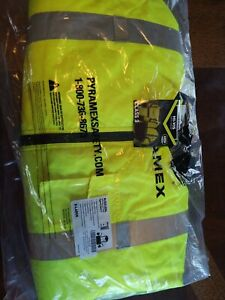 Pyramex Hi-Vis Class 3 Insulated Safety Bomber Reflective Jacket ROAD WORK XL