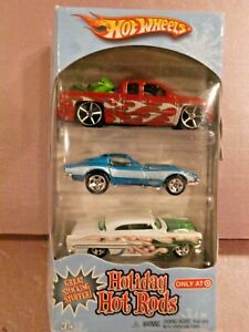 2008 Hot Wheels Target Exclusive Holiday Hot Rods 3-Pack  with Chevy Silverado