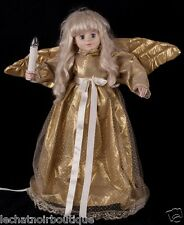 "Telco 24"" Motionette Angel Gold Dress Wings Animated Christmas Display SEE VIDEO"