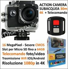 TELECAMERA SUBACQUEA CON TELECOMANDO 16MP VIDEO 4K WIFI IOS ANDROID 30 metri