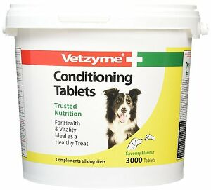 Vetzyme Dogs Conditioning Tablets Health Treat Hygiene Remedies Vitamins Diet