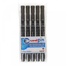 Uni Pin Fineliner 5 Technical Drawing Waterproof Pen Set Black