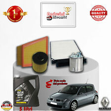 Replacement Filter Kit + Oil Renault Megane II 1.5 DCI 63KW 86CV from 2009 ->