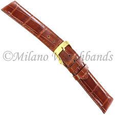 18mm Morellato Unmarked Med. Brown Glossy Genuine Alligator Watch Band 1860