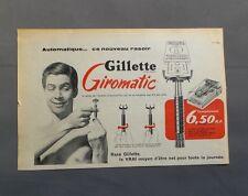 PUB PUBLICITE ANCIENNE ADVERT CLIPPING 140517 / RASOIR GILLETTE GIROMATIC