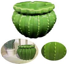 XL Sturmaschenbecher Keramik Grün Kaktus Ascher Windaschenbecher Aschenbecher