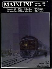 Mainline Modeler Magazine January 1986 Wabash 0-8-0, GP20, SR Gondola