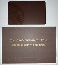Starbucks 2015 Taiwan Dark Brown Siren New Logo On The Go Card + Sleeve