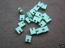 """Mini jumper link green 2.54mm (0.1"""") open style 20 pieces OM0970"""