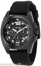 NEW DKNY BLACK RUBBER,SILICONE STRAP CHRONOGRAPH WATCH-NY1445