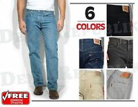 LEVIS 501® Original Jeans Mens Levi's Button Fly Straight Leg Black Blue NWT