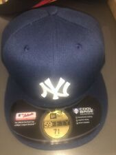 New York Yankees Fitted Hat Cap Navy Mlb Baseball