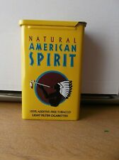natural american spirit cigarette tin empty.