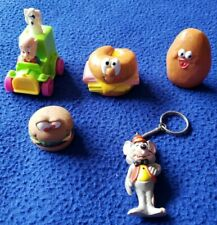 Assorted Vintage Fast Food Toys Lot of 5 - From Hardees, McDonald's and More