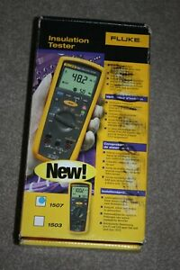 Fluke 1507 Insulation Resistance Tester With All Accessories XLNT